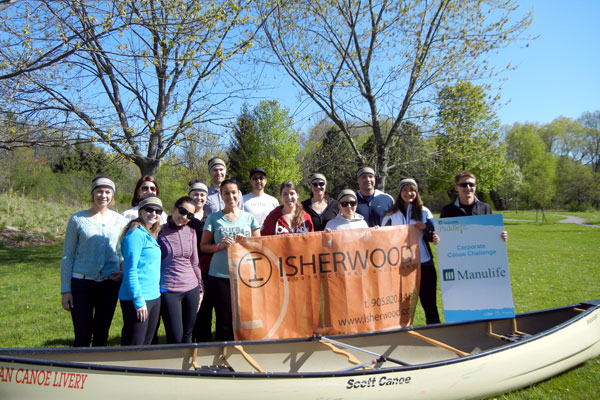 Isherwood team at Paddle the Don in Toronto, Ontario.